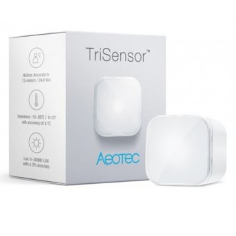 TriSensor of luminosity, temperature and movement - Z-Wave Plus - Aeotec